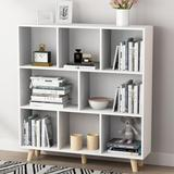 George Oliver Free Standing Bookcase Cube Organizer Wood in Brown/White, Size 42.1 H x 39.4 W x 9.4 D in | Wayfair 785BD1A2FC0440FB819D8F553EB30BC3