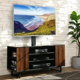 """Latitude Run® Timberline TV Stand for TVs up to 48"""" Wood in Brown, Size 54.0 H x 40.0 W x 15.7 D in   Wayfair 9149ABAF22724C049092713DB1D7F1AA"""