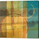 Orren Ellis Marble I By Lanie Loreth, Canvas Wall Art Canvas & Fabric in Brown/Orange, Size 24.0 H x 24.0 W x 1.5 D in | Wayfair