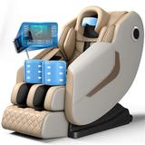 Inbox Zero Full Body Electric Shiatsu Massage Chair w/ Heat-therapy Warm Massage Rollers Faux Leather, Size 46.0 H x 30.0 W x 57.0 D in | Wayfair