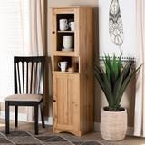 Union Rustic Studio Lauren Modern & Contemporary Oak Finished Wood Buffet & Hutch Kitchen Cabinet Wood in Brown, Size 62.4 H x 16.93 W x 14.96 D in
