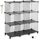 Rebrilliant Cube Storage Metal Wire Cube Storage Storage Cubes Shelves Cube Closet Organizer Stackable Storage Bins Storage Grids Modular Wire Cubes Bookshelf Boo