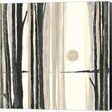 Red Barrel Studio® Through The Trees IV By Chris Paschke, Canvas Wall Art Canvas & Fabric in Black/Brown/White, Size 24.0 H x 24.0 W x 1.5 D in
