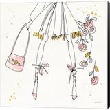 Red Barrel Studio® Fashion Feet IV By Anne Tavoletti, Canvas Wall Art Canvas & Fabric in Brown/Pink, Size 24.0 H x 24.0 W x 1.5 D in   Wayfair
