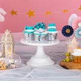 Red Barrel Studio® Cake Stand Wedding Dessert Cupcake 8 Inches/20Cm Round Cake Stands For Birthday Party Wedding Anniversary Baby Shower in White