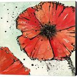 Red Barrel Studio® Not A California Poppy IV By Chris Paschke, Canvas Wall Art Canvas & Fabric in Brown/Red, Size 24.0 H x 24.0 W x 1.5 D in Wayfair