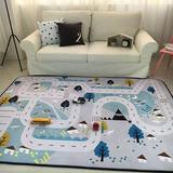 Zoomie Kids Play Mat For Baby Grey Area Rug Foam Play Mat Living Room Floor Mats Baby Crawling Mats Climbing Pad Nursery Rug Carpet, Village in Gray