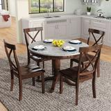 Red Barrel Studio® 5 Pieces Dining Table(Espresso)+White Wood in Brown, Size 29.9 H in   Wayfair 0859542F84434EA492C5BBBC081013B1