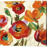 Red Barrel Studio® July In The Garden IV By Silvia Vassileva, Canvas Wall Art Canvas & Fabric in Brown/Red   Wayfair
