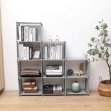 Rebrilliant 9 Cubes Bookshelf Office Storage Shelf Plastic Storage Cabinet,Adjustable Stackable Bookshelf For Kid,Home Furniture Storage Bookcase