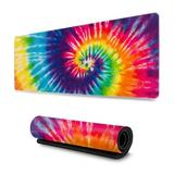 Ivy Bronx Ink Marble Art Painting Gaming Mouse Pad, Long Extended XL Mousepad Desk Pad, Large Non-Slip Rubber Mice Pads Stitched Edges | Wayfair