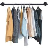 """Rebrilliant Clothing Rack Wall Mount,43""""Industrial Pipe Clothes Rack For Hanging Clothes,Heavy Duty Iron Garment Rack Bar,Retail Display Clothes Rod For Closet"""