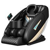 Inbox Zero Full Body Electric Shiatsu Massage Chair w/ Heat-Therapy Warm Massage Rollers Faux Leather in Black/Green | Wayfair