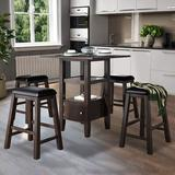 Red Barrel Studio® Wood Dinning Table, Stool Wood/Upholstered Chairs in Brown, Size 36.0 H in   Wayfair 1B6D94C21135491884CCDB54E4375CA8