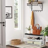 Wrought Studio™ Shoe Bench, 3-tier Shoe Rack For Entryway, Storage Organizer w/ Foam Padded Seat (gray) in White/Black   Wayfair