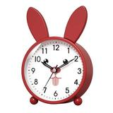 Isabelle & Max™ Analog Alarm Clock For Kids, Easy Set & Lighted On Demand, Beep Sounds, Gentle Wake,Good For Desk/Bedroom/Bedside in Red | Wayfair