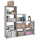 Rebrilliant 9 Cubes Bookcase Toy Closet Storage Organizers Bookshelf 4 Tier Office Book Shelf Shelving Cabinet Shelves For Office | Wayfair