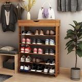 Latitude Run® 5-Tier Shoe Rack Wooden Shoe Storage Shelf Shoe Organizer, Size 37.0 H x 29.5 W x 11.8 D in | Wayfair