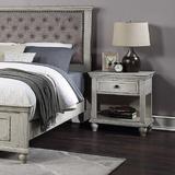 Red Barrel Studio® 1 Drawer Bedside Table w/ Bottom Shelf, Bedroom Storage Cabinet Wood in White, Size 26.0 H x 24.0 W x 16.0 D in | Wayfair