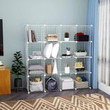 Rebrilliant Wire Cube Storage Organizer, 16-Cube Metal Grids Storage, Storage Bins Shelving, Modular Bookshelf Shelves | Wayfair