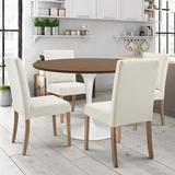 Gracie Oaks 5 Piece Dining Set Wood/Metal/Upholstered Chairs in Brown, Size 29.0 H in | Wayfair 91593529965E4AB8B086A1B3450CB09B