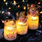 The Party Aisle™ Led Candles w/ Remote, Christian Themed Flameless Candles, Moving Flame Glass Tube Battery Operated Candles in White | Wayfair