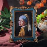 "Bloomsbury Market Aleeshia 4"" X 6"" Polyresin Single Picture Frame Set in Blue, Size 8.1 H x 6.3 W x 1.3 D in | Wayfair"