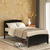 Red Barrel Studio® Wood Platform Bed, Bed, Solid Wood Bed, Child, Adult, Modern Style,white Wood in Brown/White, Size 35.0 H x 42.0 W x 80.0 D in