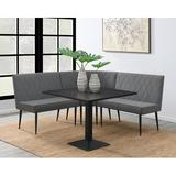Andrew Home Studio Ferguson 4-piece Dining Set Wood/Metal in Black/Brown/Gray, Size 29.5 H in   Wayfair GFC193GG915S4-YSWL