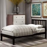 Red Barrel Studio® Wood Platform Bed w/ Headboard/Wood Slat Support,Twin (Espresso)/Item Display Weight 52.91Lb in Black, Size 42.0 W x 78.0 D in