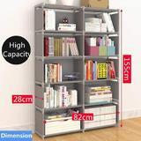 Rebrilliant Closet Storage, Bedroom Storage, Free Standing Cube Organizer Shelf,Bookcase Bookshelf For Bedroom, Living Room, Office in Brown Wayfair