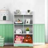 Isabelle & Max™ Multi-Layer Floor Bookshelf Standing Bookcase Wood Book Rack Storage Rack Shelf in White, Size 42.3 H x 23.4 W x 9.4 D in | Wayfair