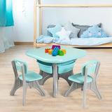 Zoomie Kids Children Kids Activity Table & Chair Set Play Furniture W/Storage- Plastic in Blue, Size 20.0 H x 27.0 W in   Wayfair