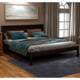 Red Barrel Studio® Wood Platform Bed w/ Headboard,full Size Platform Bed, Wood Slat Support, No Box Spring Needed in Brown | Wayfair