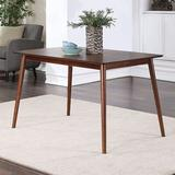 """George Oliver Round Legs Dining Table For Dining Room Kitchen, Rubberwood 47"""" Wood in Brown, Size 29.0 H x 29.5 W x 47.0 D in   Wayfair"""