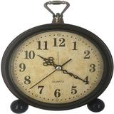 Charlton Home® 5 Inch Retro Analog Alarm Clock, Battery Operated Silent Non Ticking Small Clock For Bedside Desk Bedroom Lving Room Gift Clock Metal