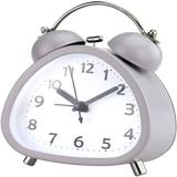 """Trule 3"""" Small Triangle Analog Twin Bell Alarm Clock, Cute Shape w/ Backlight & Loud Alarm For Heaver Sleeper, Silent Perfect For Bedroom & Work"""