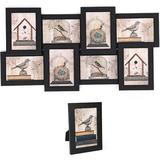 Ebern Designs Collage Picture Frames, 4 X 6 Inches For 8 Photos & 1 Single Frame, Display Wood Grain, PS Front, Assembly Required in Black   Wayfair