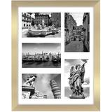 Everly Quinn Collage Picture Frame w/ Five 4X6 Picture Displays - Shatter Resistant Glass Horizontal & Vertical Formats For Wall in Yellow | Wayfair