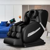 Inbox Zero Full Body Electric Massage Chair w/ Heat-Therapy Warm Massage Rollers in Black/Green, Size 46.0 H x 57.0 W x 30.0 D in | Wayfair