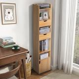 "Latitude Run® 59"" H X 12.79"" W Standard Bookcase Wood in Yellow, Size 59.0 H x 12.79 W x 9.44 D in   Wayfair 2D0D303F1A424DEA868148461A2E826B"