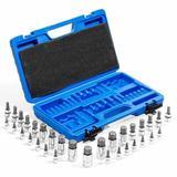 WFX Utility™ 32PCS Master Allen Wrench Bit Kit Hex For Ratchet Socket Tool Metric Set Metal, Size 13.78 H x 8.07 W x 2.48 D in | Wayfair