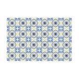 Walplus WT1582X5 - Porto & Yellow Azulejo Wall Tile Sticker Set - 15Cm (6In) - 120 Pcs Vinyl/PVC in Blue, Size 5.91 H x 5.91 W x 0.01 D in | Wayfair