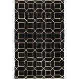 Surya Oliviana Oriental Hand-Knotted Charcoal Area Rug Polypropylene in Brown/Gray, Size 120.0 H x 96.0 W x 0.32 D in | Wayfair KSY9016-810