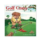Willow Creek Press Calendars Various - Golf Crazy by Gary Patterson 18-Month 2022 Mini Wall Calendar