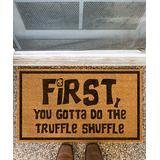 Funny Welcome Mats Door Mats Brown - Brown 'Do the Truffle Shuffle' Coir Doormat