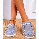 YASIRUN Women's Boat Shoes Grey - Gray Lace-Accent Boat Shoes - Women