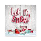 Yosunl Design Craft Kits Multi-color - White & Red 'Let It Snow' Gifts DIY Diamond Painting Kit