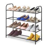Whitmor Shoe Racks and Shoe Organizers - Gray Steel Four-Tier Shoe Rack