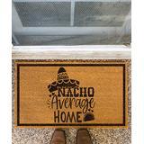 Funny Welcome Mats Door Mats Brown - Brown 'Nacho Average Home' Coir Doormat